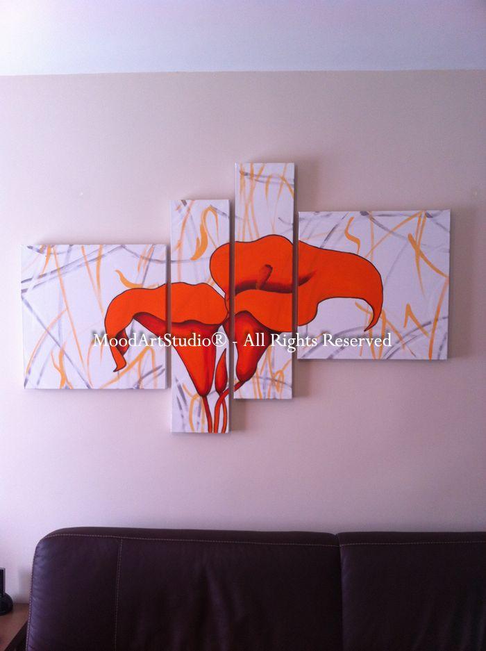 Cuadro de flores naranjas modernos. Pintado a mano 100%. Gracias por la foto Rogelio! http://www.moodartstudio.es/es/cuadros-abstractos/13-cuadro-lirios-flores-naranjas-abstracto-.html