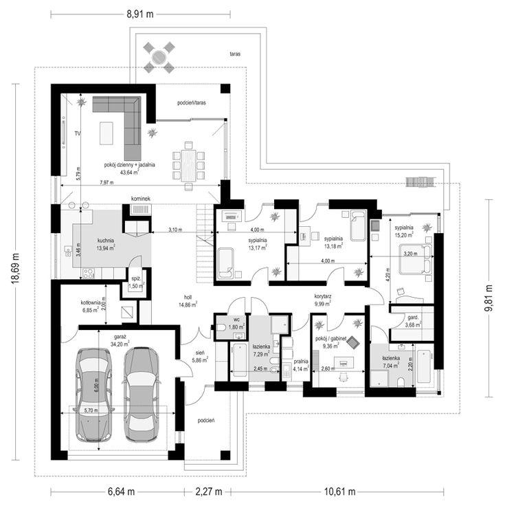 projekt-domu-parterowy-2-rzut-parteru