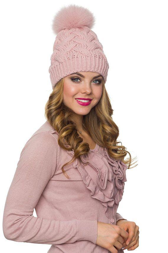 042a60a7487 Pom pom hat with fleece Winter hat for women PomPom beanie ...