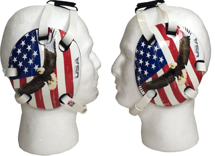 Eagle and USA Flag Wrestling Headgear