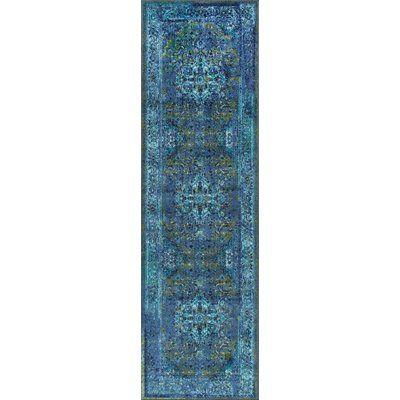 Bungalow Rose Brennen Southwestern Blue Area Rug Rug Size Runner