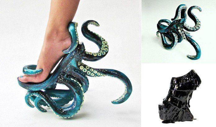 #интересное  Сумасшедшая обувь от филиппинского дизайнера (3 фото)   Известно, что женщины сходят с ума по обуви на высоких каблуках, и 27-летний филиппинский дизайнер Kermit Tesoro создал уникальную креативную серию таких обувных конструкций, ставших знаменитыми. Туф�