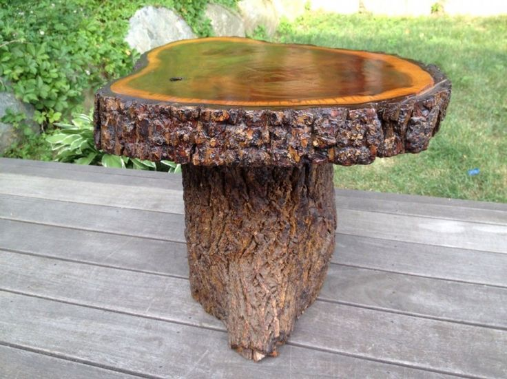 33 best images about tree trunk tables on pinterest ash for How to make illuminated tree stumps