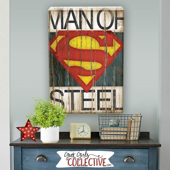 Superman - Giclee Art Print by Geek Girls Collective Lets enjoy the adventure together with this fun superhero print. This vintage style