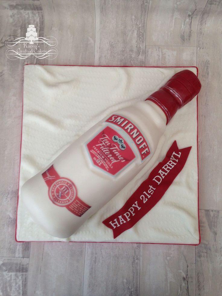 Smirnoff Vodka Bottle Cake Cake Cake Bottle Cake