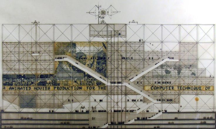 centre-pompidou-facade-elevation-competition-entry-pianorogers-1971