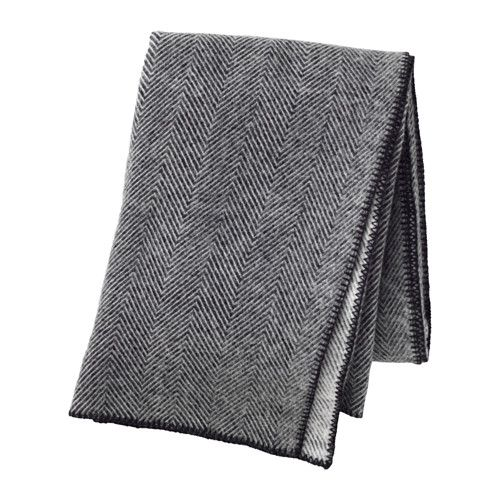 IKEA - STRIMLÖNN, Throw, Made of pure new wool. The throw is soft to the touch and durable.