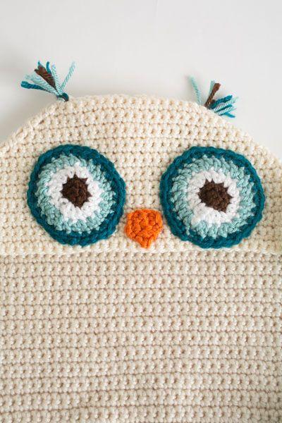 Owl Hooded Blanket - I Like Crochet