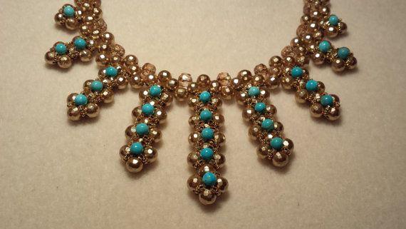 Digital PDF Tutorial. Verona Necklace. Elegant necklace