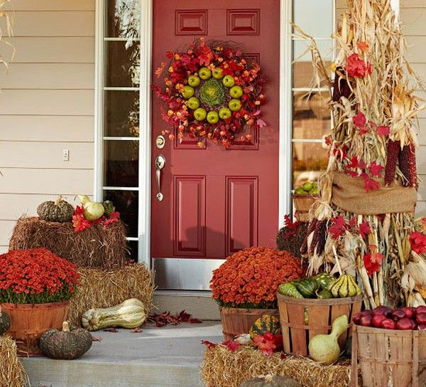 fall decorations | Porch Fall Decor Ideas | outdoortheme.com