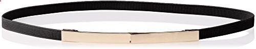elise m. Women's Lohan- Fabric Stretch Belt with Gold Plaque Closure, Black, One Size. Go to the website to read more description.