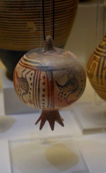Clay model of a pomegranate (750-690 B.C) ~ Nafplion Archaeological Museum, Peloponnese, Greece