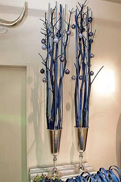 Megastylische Weihnachtsdeko in Blau! Bestimmt auch toll in Rot und Gold.  Quelle: schmidnachfolger.de