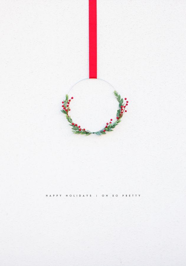 Happy Holidays // Christmas card // Handmade