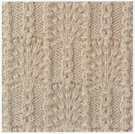 Lace Knitting Stitch #28 aus Knitting Patterns Book 250 by Hitomi Shida