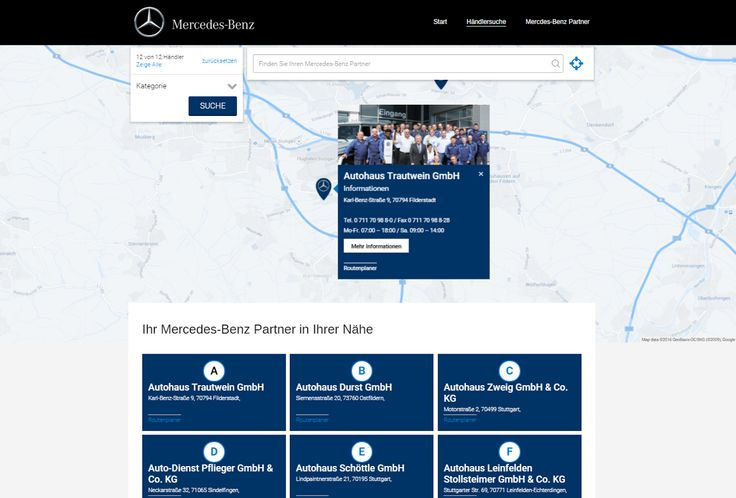 Find a Mercedez Benz partner near you http://www.mbp-s.de/mercedes-benz-partner-finden/ #storelocator   #superstorefinder   #mercedez   #mercedezbenz  Get your own store locator for your website at http://superstorefinder.net/getssfwp