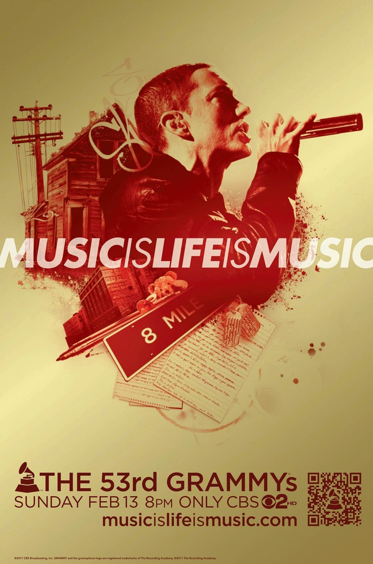 Eminem 'Music Is Life Is Music' 53rd GRAMMY Awards Campaign