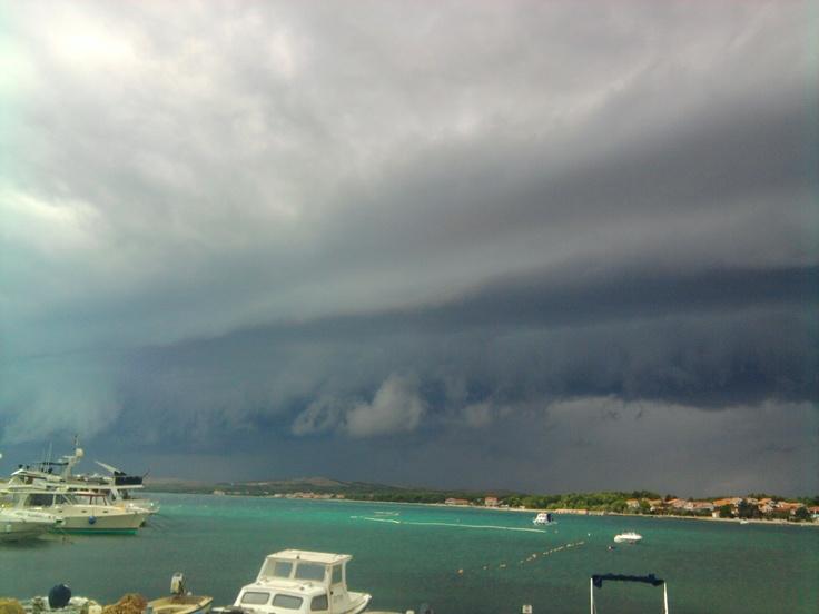 summer storm on island Vir, Croatia #croatia #vir #dalmatia #dalmacija #hrvatska