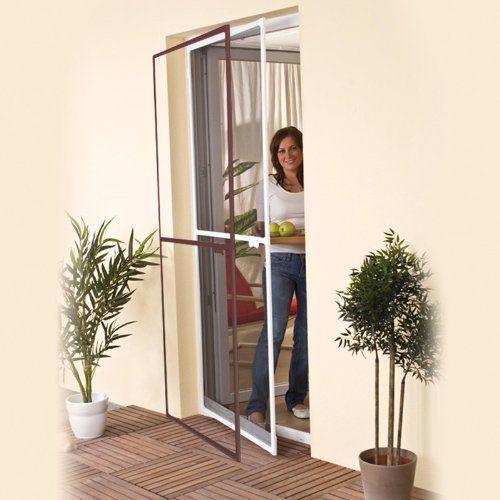 Easy life – Moustiquaire de Porte – Porte fenêtre – Cadre en aluminium – 100x215cm ajustable +fixation – Blanc ou marron: Dimensions: 100 x…