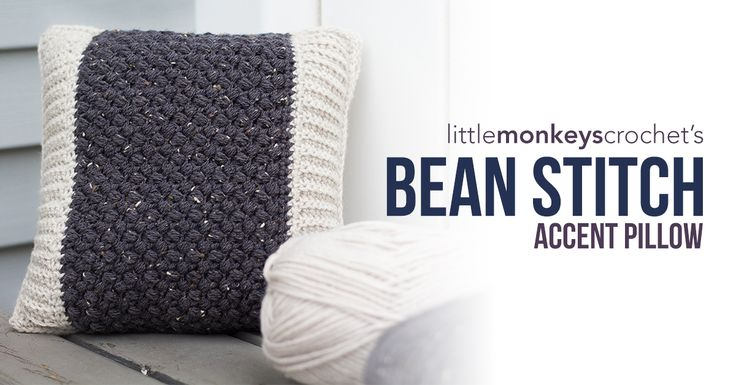 This rustic-looking pillow is made with Vanna's Choice yarn.