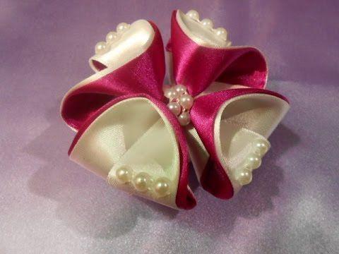 Оригинальный бантик на резинку МК. DIY bow for the original gum - YouTube