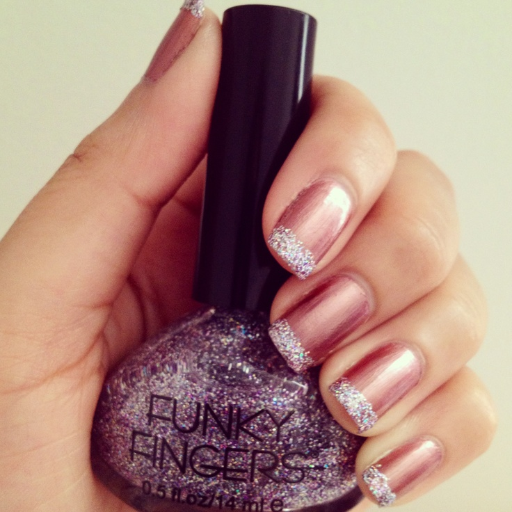 17 best ideas about sparkly french tips on pinterest