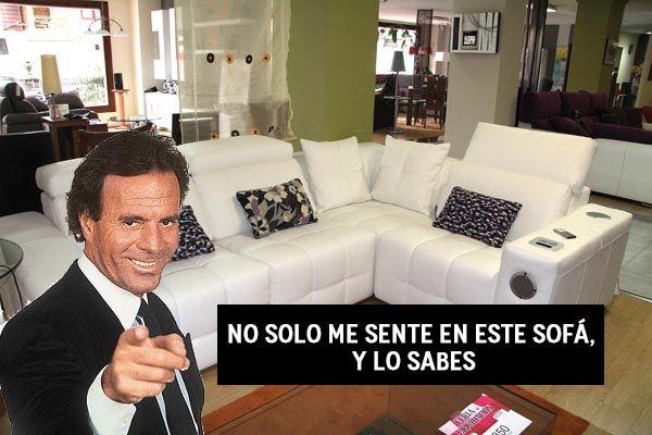 Aunque parezca mentira nuestro sofá estuvo en el concierto de Julio Iglesias.