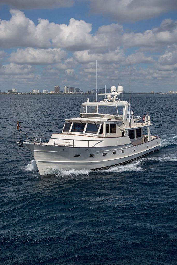 Fleming 55 Motor Trawler Yachts For Sale Featuring A Dedicated