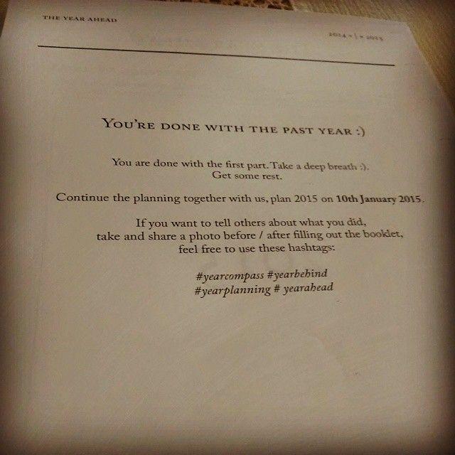 """Finally finished it! #yearcompass #yearbehind #yearplanning #yearahead"""
