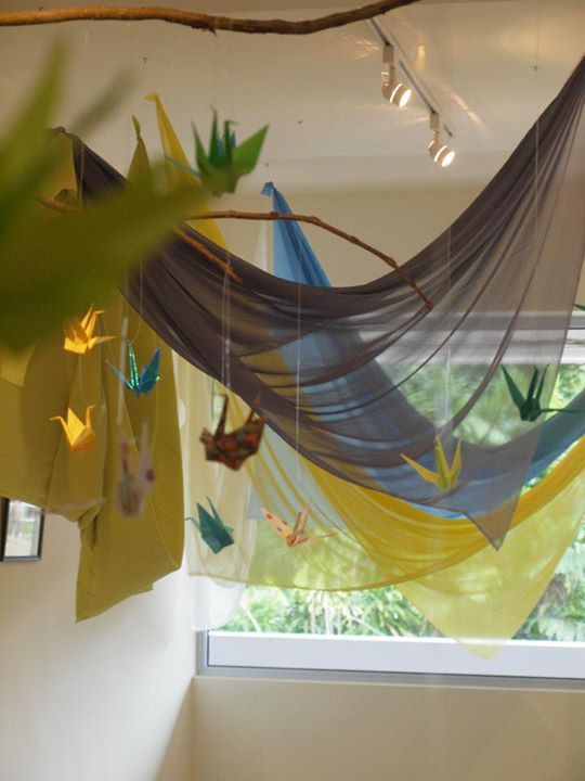 """Pretty material & mobiles at Blue House International School ("""",)"""