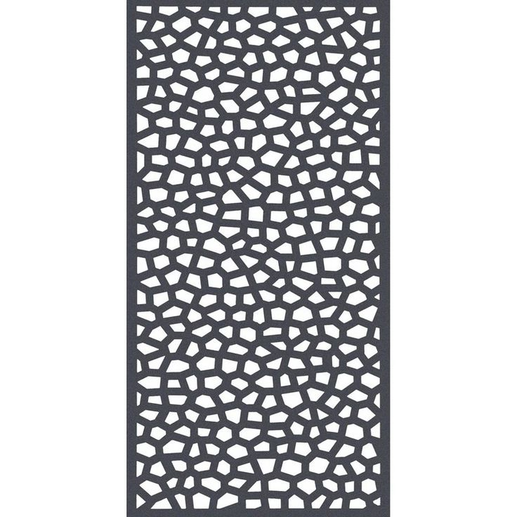 Panneau Treillis Pvc Ajoure Mosaic L 100 X H 200 Cm Gris Panneau Treillis Panneau Decoratif Jardin Treillage