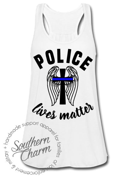 Southern Charm Designs - Police Lives Matter St. Michael Top, $29.00 (http://www.shopsoutherncharmdesigns.com/police-lives-matter-st-michael-top/)