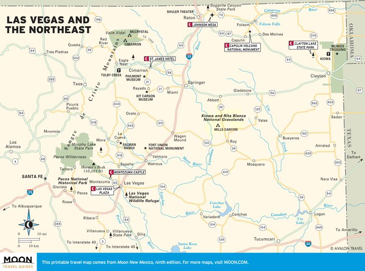 Printable Travel Maps Of New Mexico Moon Travel Guides