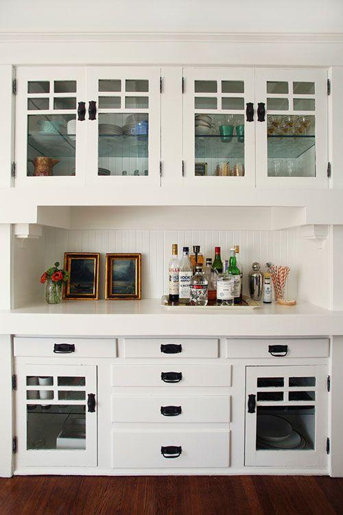 A More Modern Looking Glass Cabinet Door