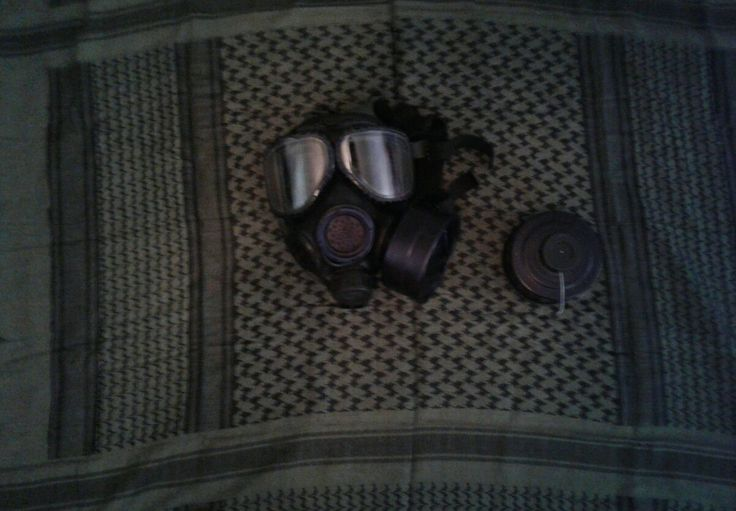 M40A1 gas mask. Good for protection against Nuclear, Biological, and Chemical weapons. Now I just need to pick up a hazmat suit.