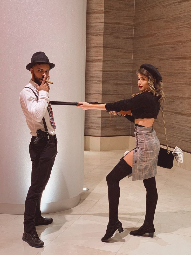 Bonnie And Clyde Couple's halloween costume Boyfriend and girlfriend costume O…