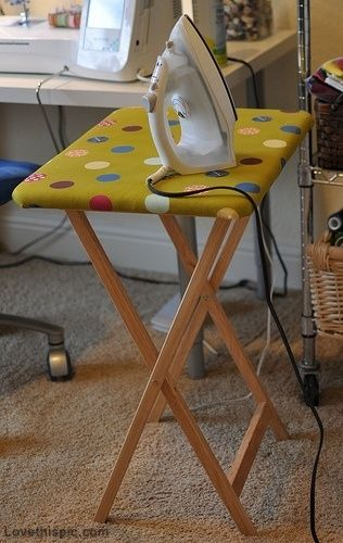 TV Tray Turned Ironing Board home simple diy ideas household iron tv tray helpful hints