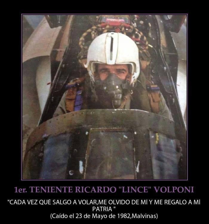 """Primer Teniente Ricardo """"Lince"""" Volponi --- Caído el 23 Mayo 1982."""