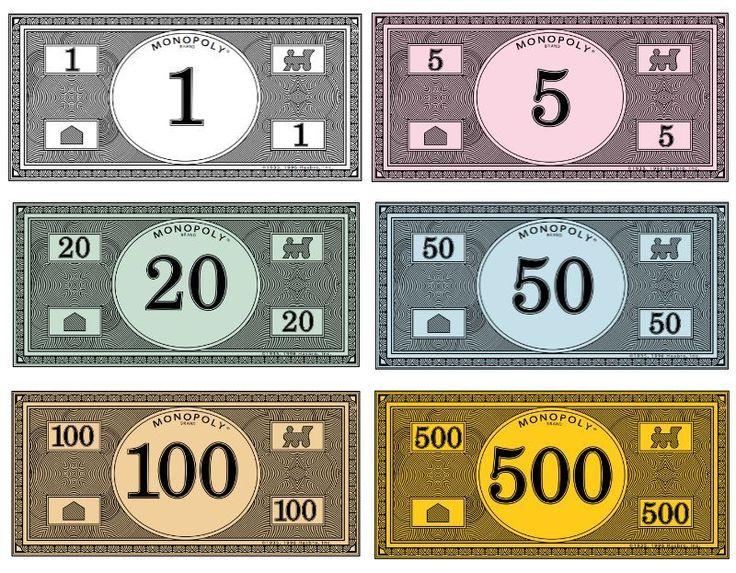 Monopoly Geld Aufteilung