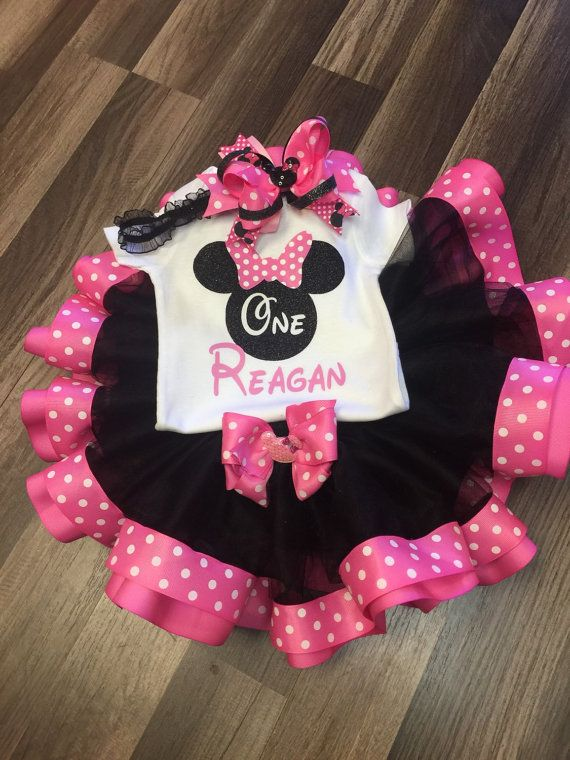 Minnie Mouse first birthday outfit Minnie Mouse second by Karapouz