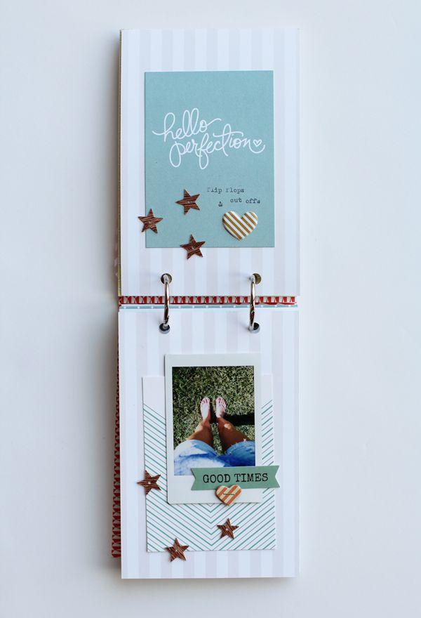 DIY Instax Mini Album by Adrienne Alvis for *Gossamer Blue*