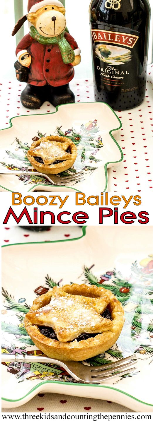 A naughty festive treat. Try these this Christmas, Boozy Baileys Mince pies.