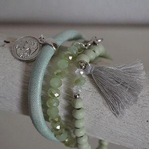 Armbandensetje groen