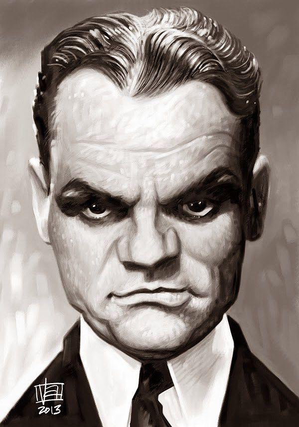 Caricatura de James Cagney.