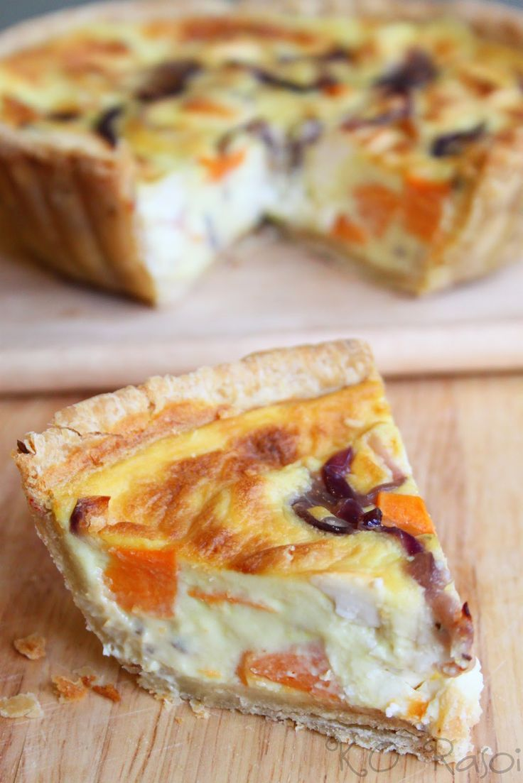 Eggless Quiche with Sweet Potatoes, Caramelised Onions and Feta | K.O Rasoi