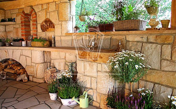 La Provence style outdoor kitchen