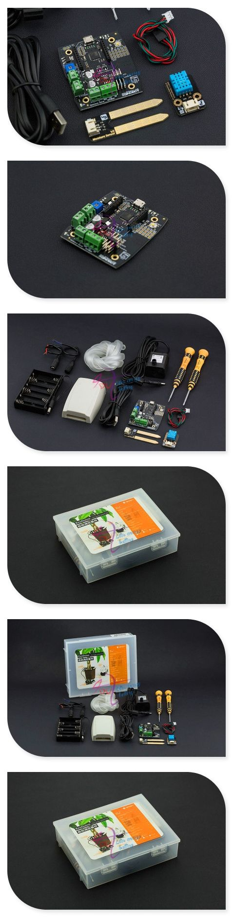 DFRobot 100% Genuine EcoDuino An Auto Planting Kit, with auto flower watering control board Temperature and Humidity Sensor etc.