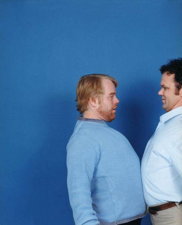 Philip Seymour Hoffman and John C. Reilly, photographed for Time Out New York in 2001. by Chris Buck