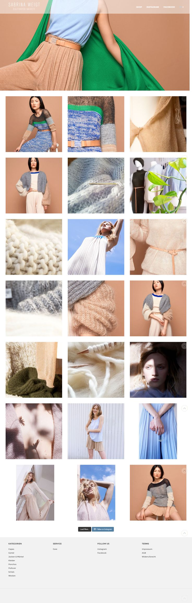 sabrina-weigt.de/, created with Shopkeeper WP theme  https://themeforest.net/item/shopkeeper-ecommerce-wp-theme-for-woocommerce/9553045?utm_source=pinterest.com&utm_medium=social&utm_content=sabrina-weigt&utm_campaign=showcase #wordpress #websites #design #shop #knitwear