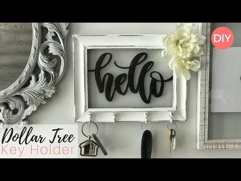 3 Key Holder Diy Dollar Tree Diy Ashleigh Lauren Tutorials Shabby Chic Youtube